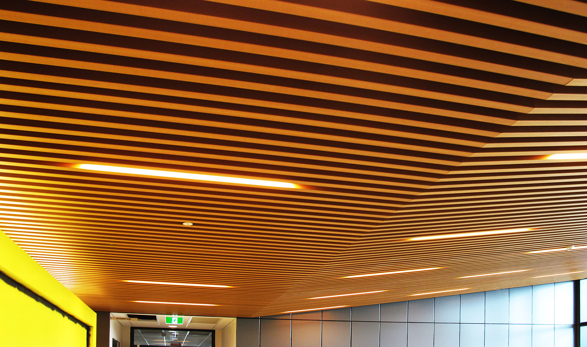 Innowood Ceiling Systems Can Incorporate A Unique Acoustic