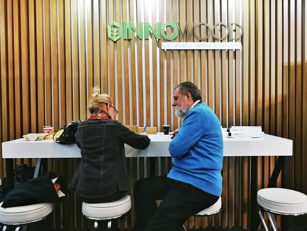 INNOWOOD's exhibitor stand in BAU 2019