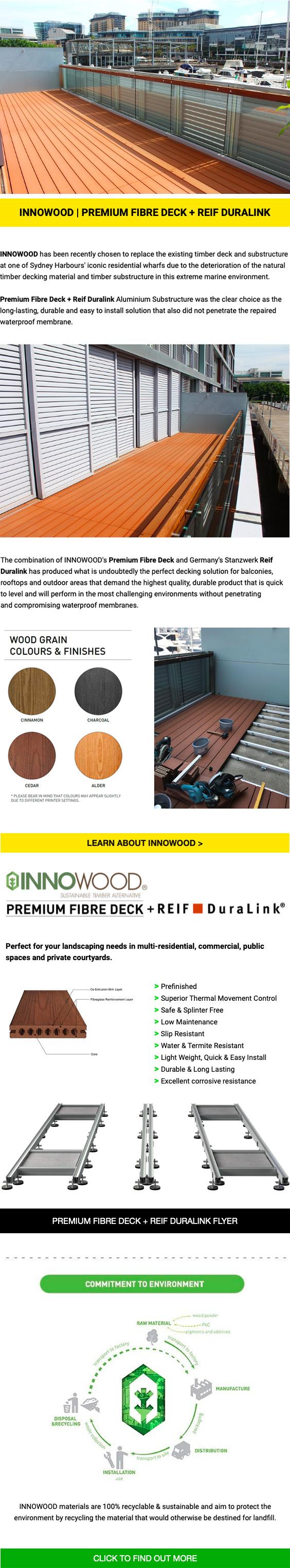 March 2020-INNOWOOD - Premium Fibre Deck + Reif Duralink Substructure